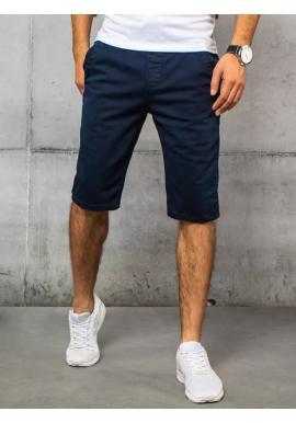 Pánské módní riflové kraťasy v tmavě modré barvě