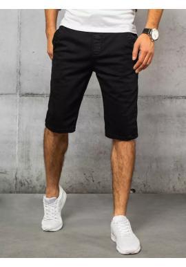 Černé módní riflové kraťasy pro pány