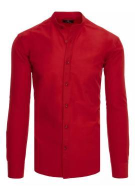 Bordová módní košile se stojáčkem pro pány