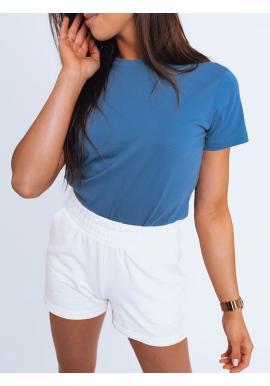 Modré klasické tričko s krátkým rukávem pro dámy