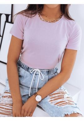 Fialové klasické tričko s krátkým rukávem pro dámy