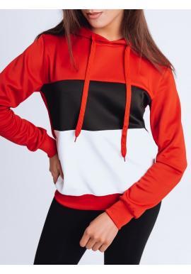 Červená módní mikina s kapucí pro dámy