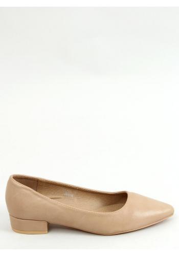 Klasické dámské lodičky béžové barvy na nízkém podpatku