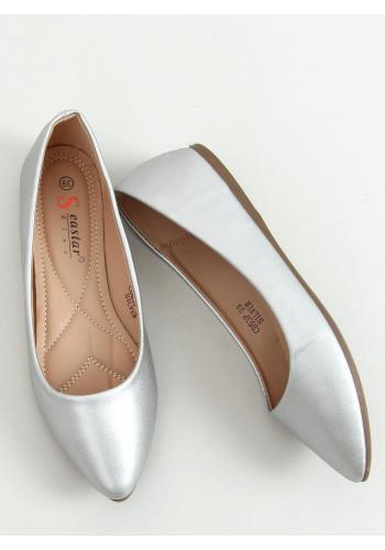 Stříbrné klasické baleríny pro dámy