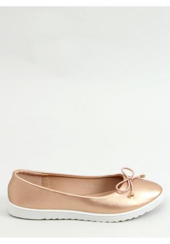 Růžovo-zlaté sportovní balerínky s mašlí pro dámy