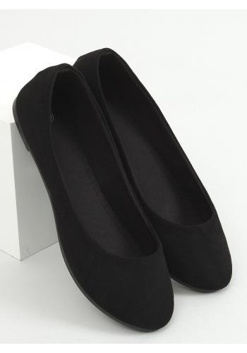 Dámské klasické baleríny s kulatou špičkou v černé barvě