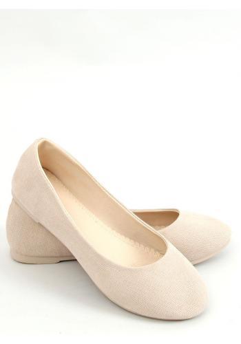 Klasické dámské balerínky béžové barvy s kulatou špičkou
