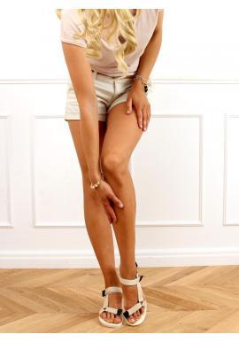 Béžové sportovní sandály se suchým zipem pro dámy