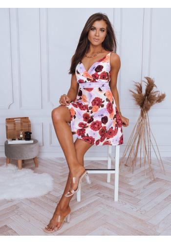 Bílé květované šaty na ramínka pro dámy