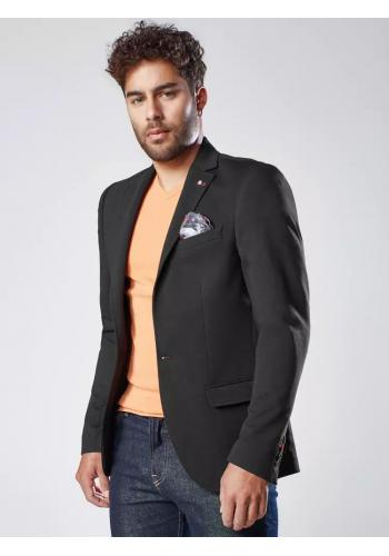 Pánské jednořadé sako v neformálním stylu v černé barvě