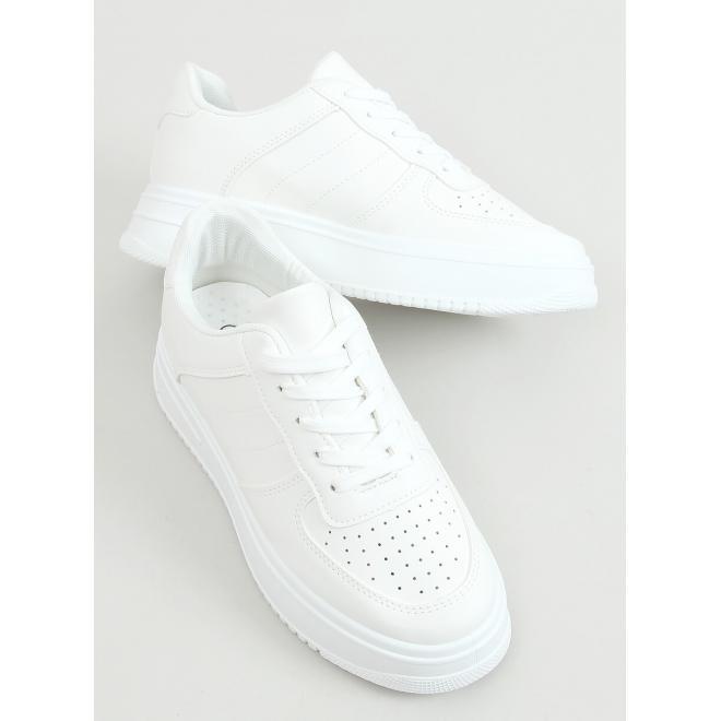 Bílé sportovní tenisky s vysokou podrážkou pro dámy