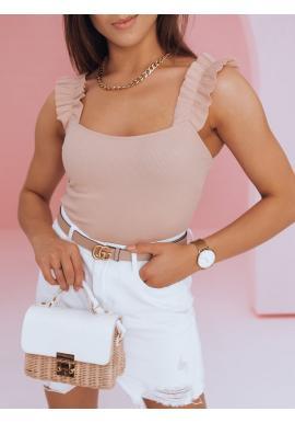 Dámské módní body na ramínka v růžové barvě