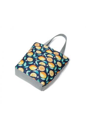 Dámská plážová taška s potiskem citronů
