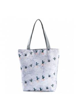 Dámská plážová taška s potiskem kaktusů