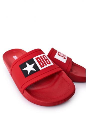 Pánské gumové pantofle Big Star v červené barvě