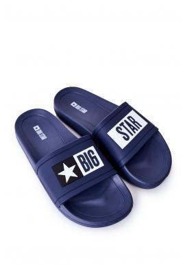 Tmavě modré gumové pantofle Big Star pro pány
