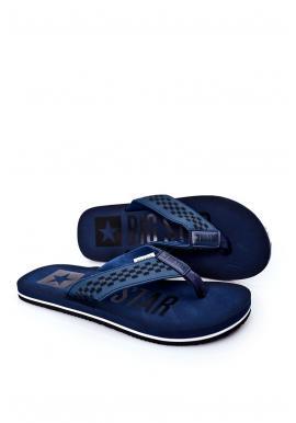 Pánské módní žabky Big Star v tmavě modré barvě