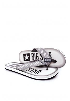 Šedé módní žabky Big Star pro pány