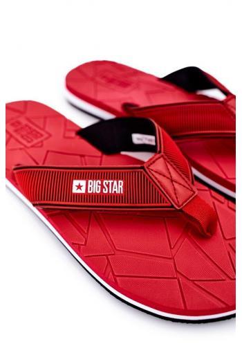 Pěnové pánské žabky Big Star červené barvy