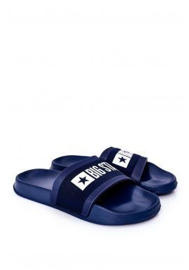 Tmavě modré lehké pantofle Big Star pro pány