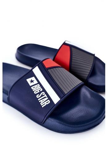 Pánské gumové pantofle Big Star v tmavě modré barvě