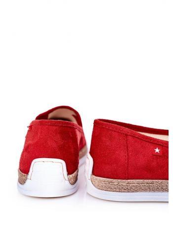 Červené semišové espadrilky značky Big Star pro pány