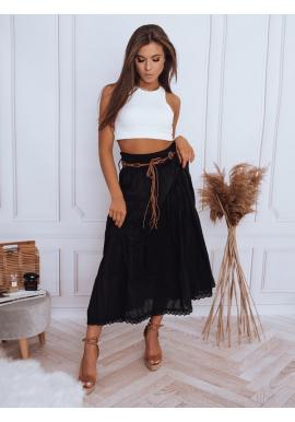 Černá maxi sukně s krajkovým detailem pro dámy