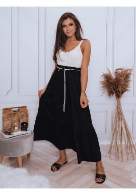 Maxi dámská sukně černé barvy s gumičkou v pase