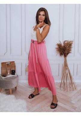 Fuchsiová maxi sukně s gumičkou v pase pro dámy