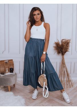Dámská maxi sukně s gumičkou v pase v tmavě modré barvě