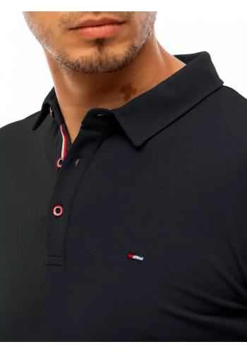 Pánské klasické polokošile se třemi knoflíky v černé barvě