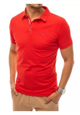 Klasická pánská polokošile červené barvy s třemi knoflíky