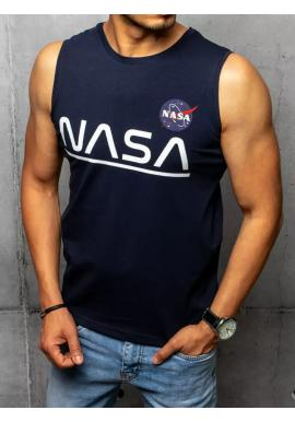 Módní pánské tričko tmavě modré barvy s potiskem NASA