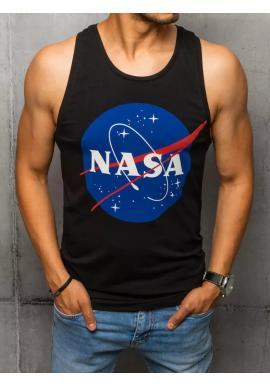 Pánské letní tričko s potiskem NASA v černé barvě