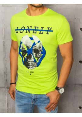 Zelené módní tričko s potiskem pro pány