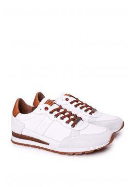 Pánské módní tenisky s protiskluzovou podrážkou v bílé barvě