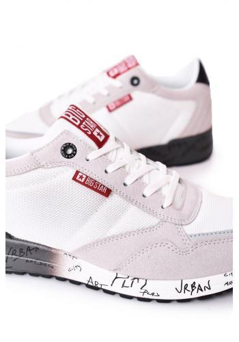 Pánské stylové tenisky Big Star s paměťovou stélkou v bílo-šedé barvě