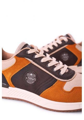 Béžovo-hnědé semišové tenisky pro pány
