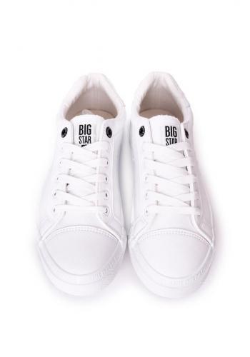 Kožené pánské tenisky značky Big Star bílé barvy
