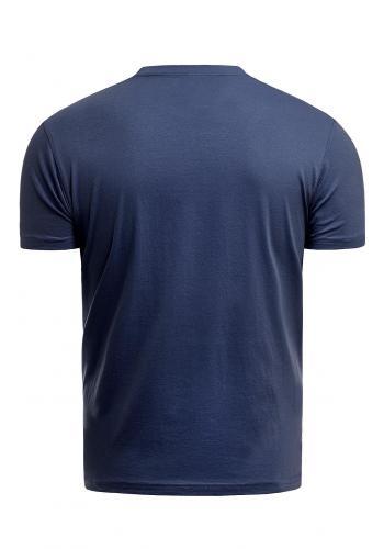 Klasické pánské tričko tmavě modré barvy s potiskem