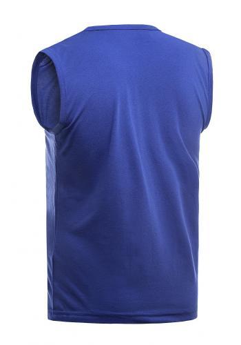 Bavlněné pánské tričko modré barvy s potiskem