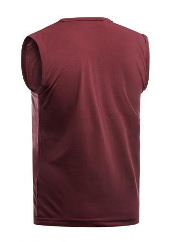 Pánské bavlněné tričko s potiskem v bordové barvě