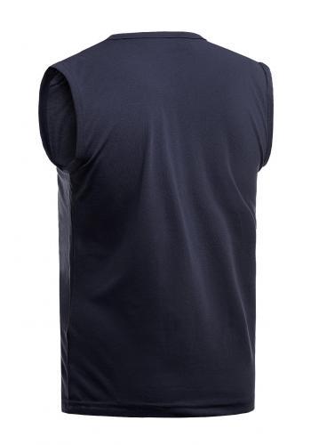 Tmavě modré bavlněné tričko s potiskem pro pány