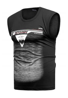 Bavlněné pánské trička černé barvy s potiskem