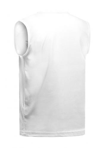 Bavlněné pánské tričko bílé barvy s potiskem