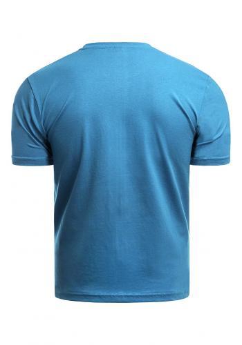 Bavlněné pánské trička světle modré barvy s krátkým rukávem