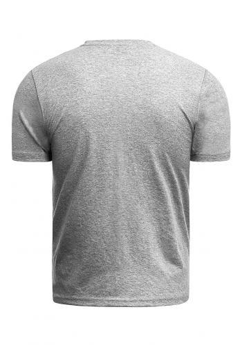 Pánské bavlněné tričko s krátkým rukávem v šedé barvě