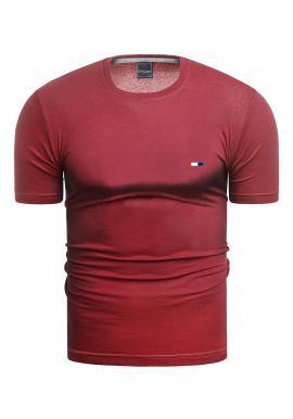 Bavlněné pánské tričko červené barvy s krátkým rukávem