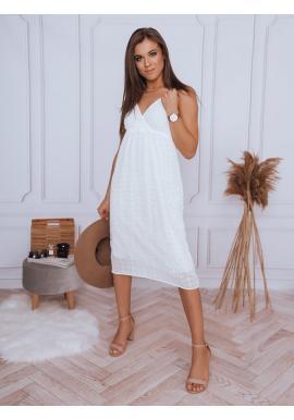 Dámské boho šaty na ramínka v bílé barvě