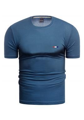 Mořské bavlněné triko s krátkým rukávem pro pány